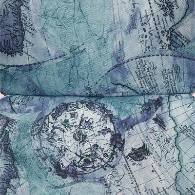 Цвет: Ткань «Карта на синем»