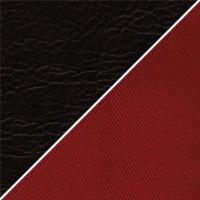 Цвет: Иск. кожа черная / Бордовая ткань