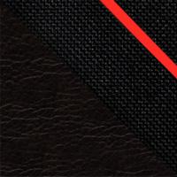 Цвет: Иск.кожа черная/Ткань черная+красная