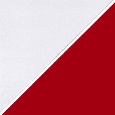 Цвет: Кож/зам + ткань, белый/красный