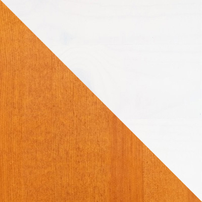 Цвет: Эмаль белая / Мед; Размер: Спальное место 900 Х 1900 мм