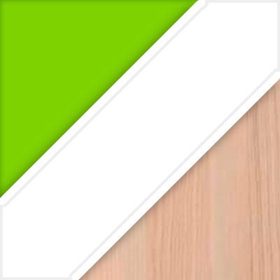 Цвет: Корпус - Лайм, Фасад - Белый, Столешница - Ясень коимбра; Ориентация: Правый