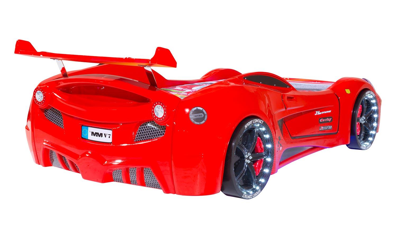 Кровать-машина Ferrari Sport QX  Lux  ( кожа), FF-01