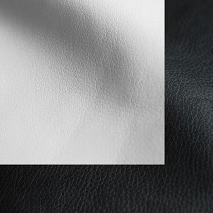 Экокожа бело-черная
