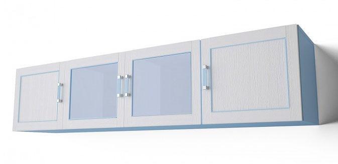 Шкаф с витриной навесной Аква Родос Voyage 1