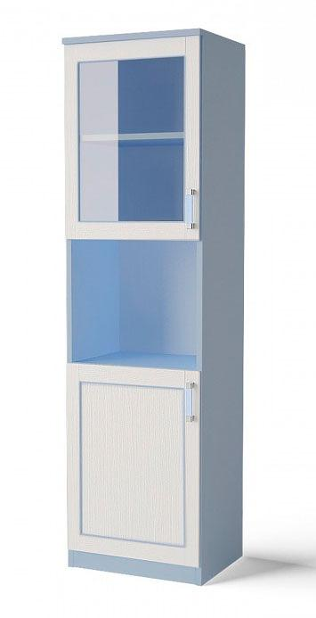 Шкаф с витрной Аква Родос Voyage 1