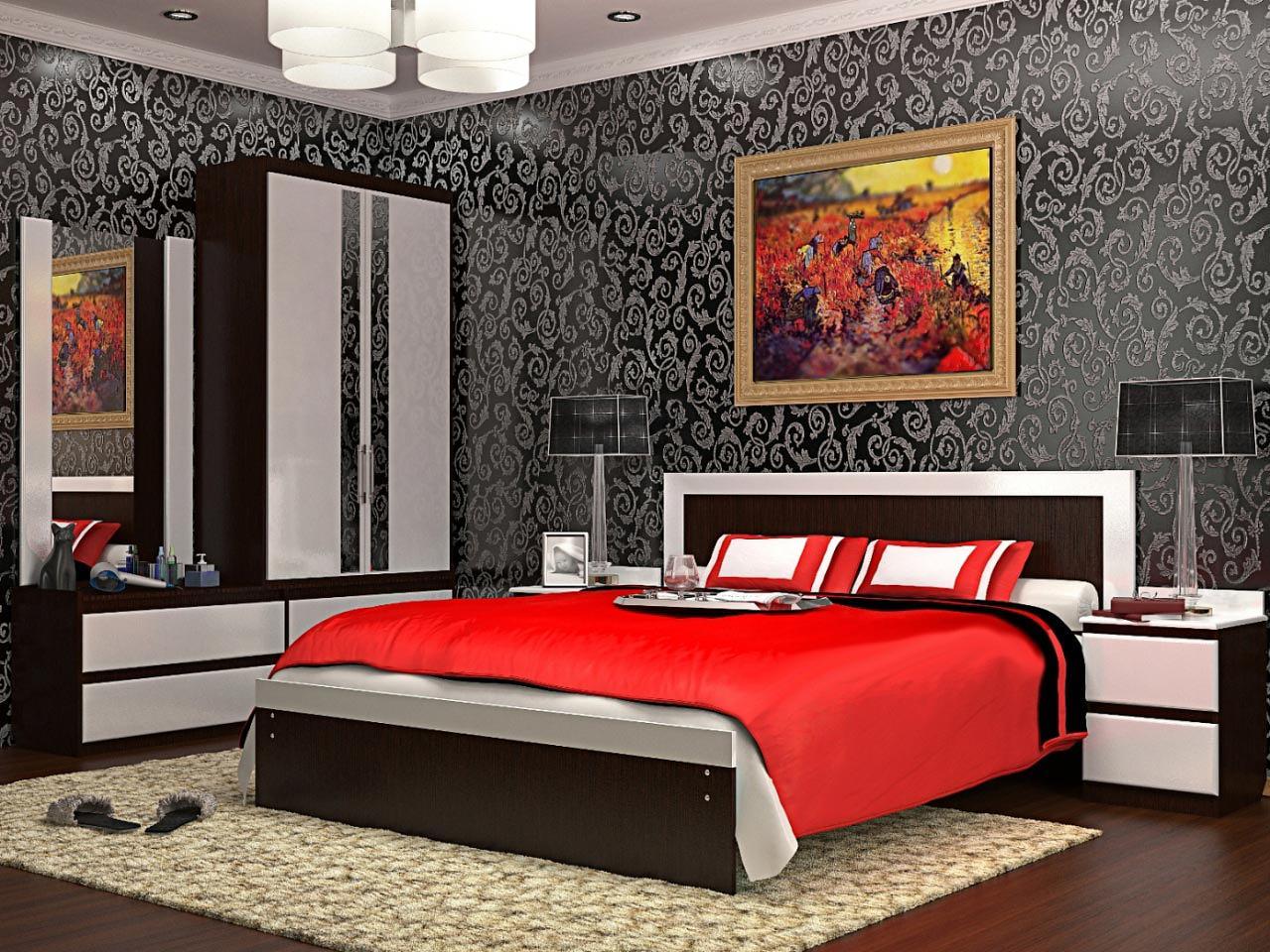 Мебель для спальни VitaMebel Vivo-10 (белый глянец)