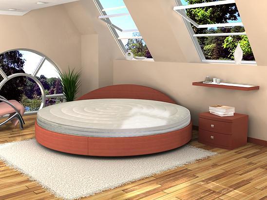 Круглые кровати Торис Амата
