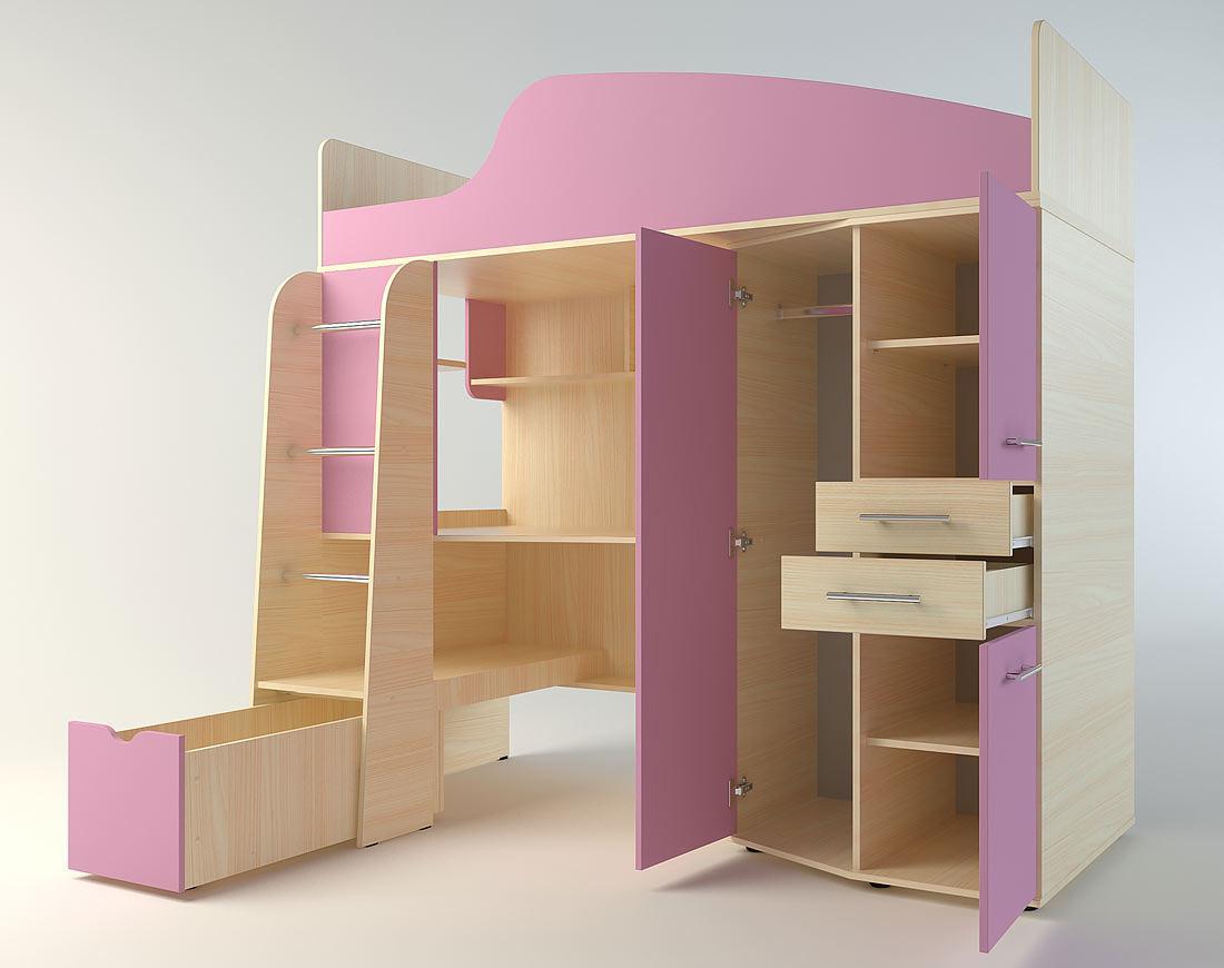 Система хранения для детских вещей у кровати-чердака Сканд Нильс
