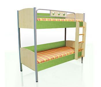 Кровать двухъярусная Полосатый рейс